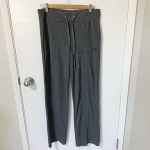 Roots Active Wide Leg Sweatpants, Charcoal Grey M